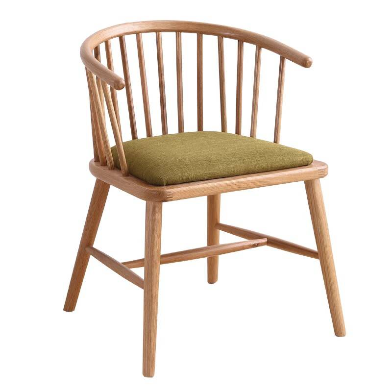Factory Direct Nordic Simple Solid Wood Princess Chair Cafe Milk Tea Shop Hot Pot   Restaurant Dining Table