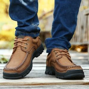 Image 5 - الرجال حذاء كاجوال أحذية رياضية 2020 جديد جودة عالية Vintage 100% حقيقية أحذية من الجلد الرجال جلد البقر الشقق أحذية من الجلد الرجال