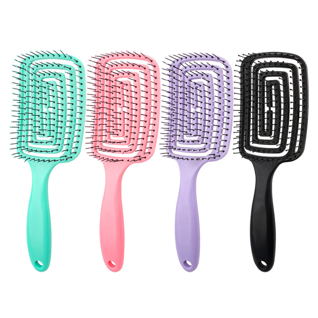Large Curved Comb Hair Styling Comb Comb Hollow Massage Comb Portable Long Handle Comb Hairdressing Comb Head Massage