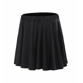 2018 szybkoschnąca spódnica sportowa damska jednolity kolor plisowana spódnica tenisowa spódnica treningowa podszewka anty-ekspozycja podzielona na narty tanie i dobre opinie Solid Color China SAIKJF 9038 Divided Skirt