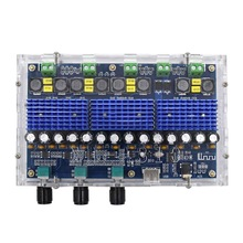 XH-A310 TPA3116D2 Bluetooth 5.0 Digital Power Amplifier Board 4 Channel 50W x 2 and 100W x 2 Dual Stereo Dual Bass tpa3116 2 100w bluetooth digital power amplifier board dual channel digital audio amplifier board module 2 2 0 super bass amp