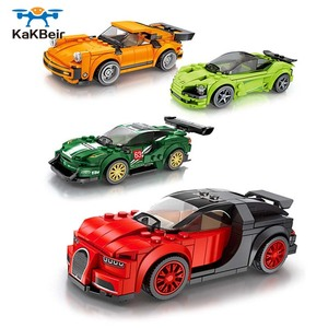 KaKBeir City Roadster Sports Racing Speed Supercar Small Car building block Educational Assembly Brickheadz Toys For children