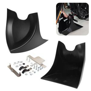 Motorcycle Matte Black Chin Lower Front Spoiler Air Dam Fairing For Harley Sportster 883 1200 Fatboy Softail Touring Glide Dyna(China)
