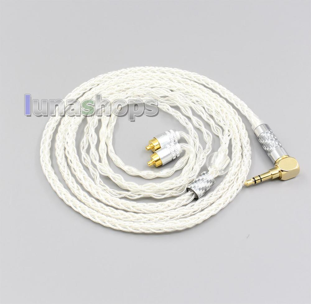 99% Pure Silver 8 Core 2.5mm 4.4mm 3.5mm XLR Headphone Earphone Cable For Sony IER-M7 IER-M9 IER-Z1R LN006472