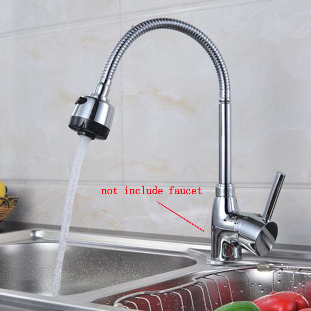 360-Degree Rotation Stainless Steel Sink Faucet Spout Kitchen Sink Faucet Pipe Fittings Single Handle Connection Flexible Tape