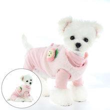 Зимний костюм для домашних животных двухфутовый жилет с фруктами