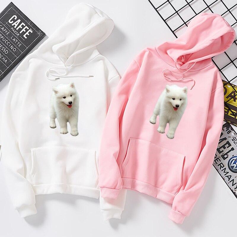 Winter Pockets Heavy Blend Angry Pomeranian Dogs Unique Women Girls Fleece Pullover Hoodie
