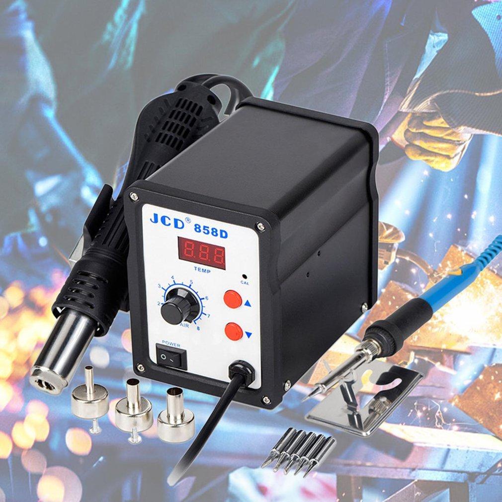 Tools : BK-858D SMD Rework Solder Station 2 in 1 Hot Air Soldering Iron LCD Digital Welding Station Repair BGA Hot Gun Soldering Station