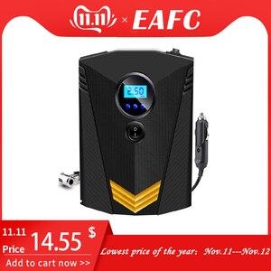 Image 1 - EAFC Портативный 150PSI автомобильный шинный насос, цифровой экран, воздушный компрессор, насос с светодиодный светильник, DC12V, насос для автомобиля, мотоцикла