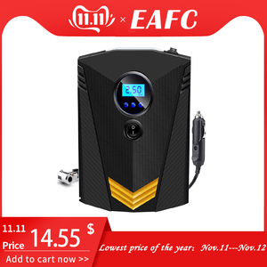 Image 1 - Eafcポータブル 150PSI車のタイヤインフレータデジタルスクリーン空気圧縮機ポンプledライトDC12Vポンプ車のオートバイ
