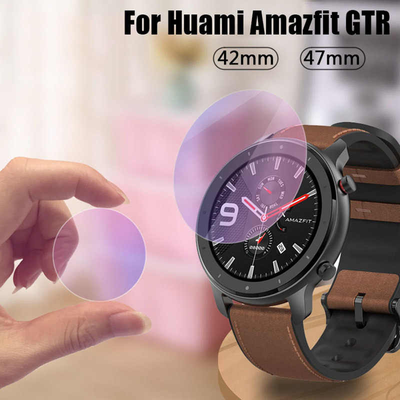 1PC Clear Steel Film Tempered Glass Screen Protector for AMAZFIT GTR Smart Watch 42/47mm Smart Watch Protective Accessories