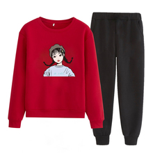 Pantalones de sudadera conjunto de sudadera de abrigo de invierno ropa deportiva para mujer chándal femenino conjunto de ropa 2019