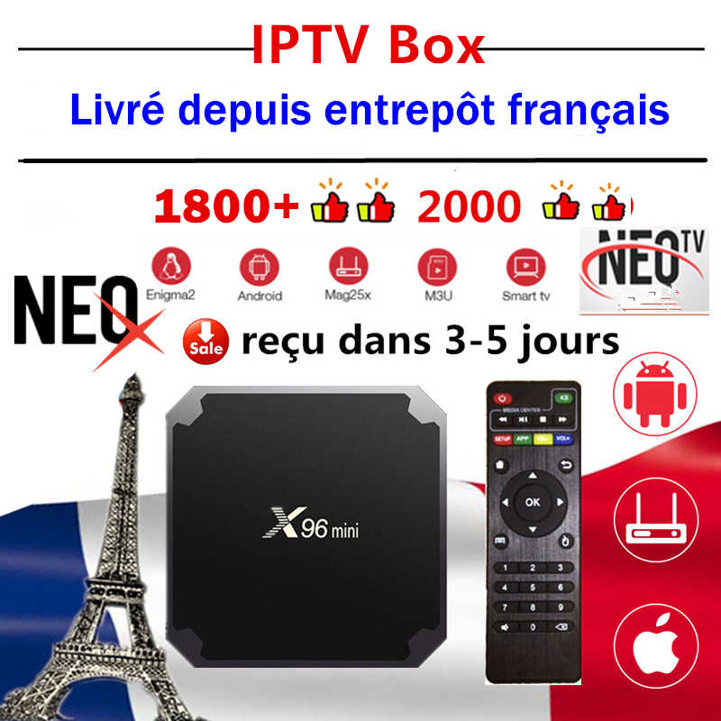 NeoX iptv caja x96mini neo tv pro android tv caja de x96 mini 1G 8G 2G 16G Neotv pro set de smart tv top box compatible con iptv smarters m3u