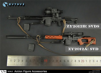 ZYTOYS ZY2012 SVD/SVDS 1/6 Gun Weapon Model Toy Fit 12 Solider Figure