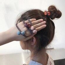 1 pcs alta elastic heart forma geometria cassic simples para as mulheres bandas de cabelo crianças banda de borracha menina anel de cabelo acessórios