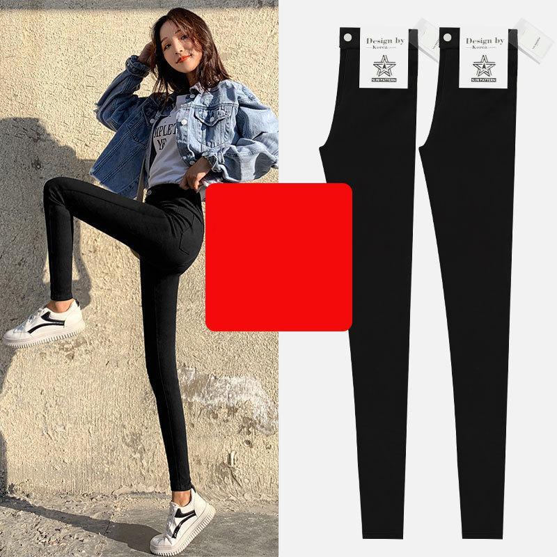 5xl Spring High Waist Black Magic Pants Women Thickened Cotton Pants Womens Autumn Winter Thick Pile Cargo Pants Women Joggers