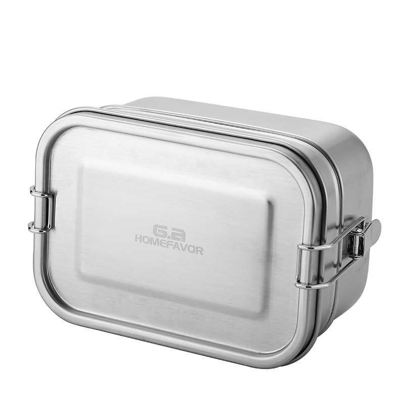 Ăn Trưa Bento Box 304 Thép Không Gỉ Hộp Đựng Thực Phẩm Hai Lớp Lớn Hoa Quả Bánh Snack Hộp 1400 Ml Hộp Bảo Quản Bin bộ Đồ Ăn