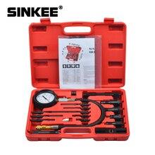 17Pc Dieselmotor Compressie Cilinder Druk Tester Gauge Kit Set SK1028