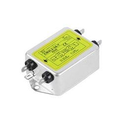 Filtr zasilania jednofazowy AC 220V oczyszczanie przeciwzakłóceniowy CW4L2-3A-T 6A 10A 20A