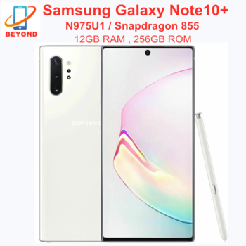 "Samsung Galaxy Note 10 Plus N975U1 Note10+ N975U 256GB ROM 12GB RAM Octa Core 6.8"" Snapdragon 855 LTE Original Mobile Phone 1"