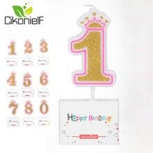 Свеча на день рождения для детей от 0 до 8 лет, Новые Вечерние свечи с цифрами на день рождения для девочек, свечи для торта, вечерние свечи