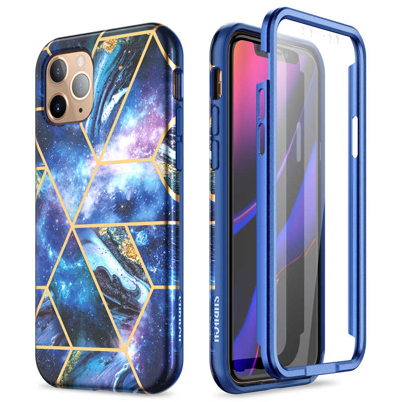 Marmer Case untuk Apple Iphone 11 Pro Case Glitter Bumper Lembut Tutup Pelindung dengan Built-In Screen Protector Phone Case Coque