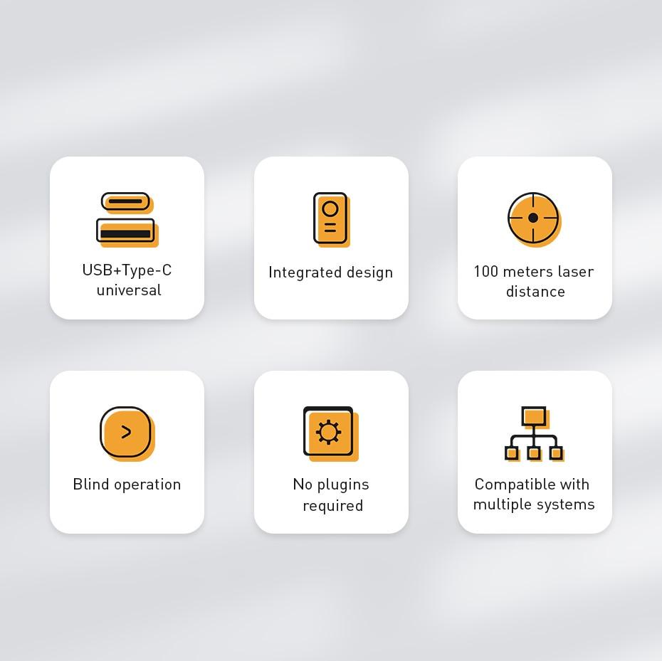 Baseus Orange Dot Wireless Presenter 6