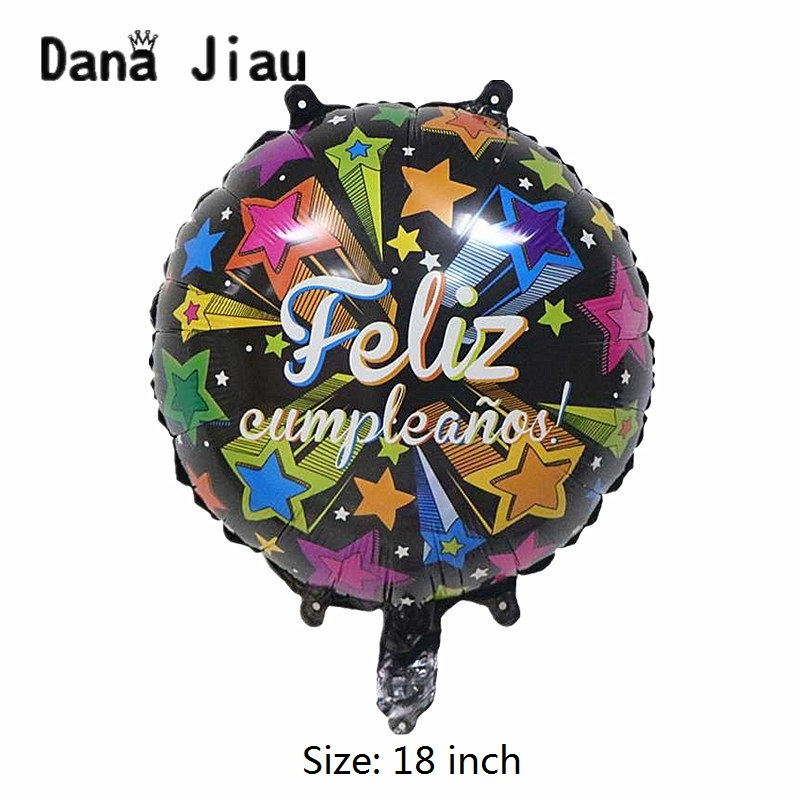 danajiau new surprise gift box Spanish feliz cumpleano <font><b>20th</b></font> HAPPY <font><b>BIRTHDAY</b></font> party <font><b>decoration</b></font> helium balloon kids toy whole sale image