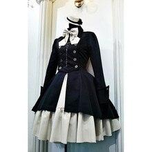 Модное готическое платье для женщин, винтажное готическое платье принцессы с воротником под горло и бантом, лоскутное платье для женщин, платье для костюмированной вечеринки на Хэллоуин, вечерние платья