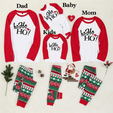 Family Christmas Pajamas Set look Clothes Adult Kids Baby Romper Santa Sleepwear Matching Clothe E0297