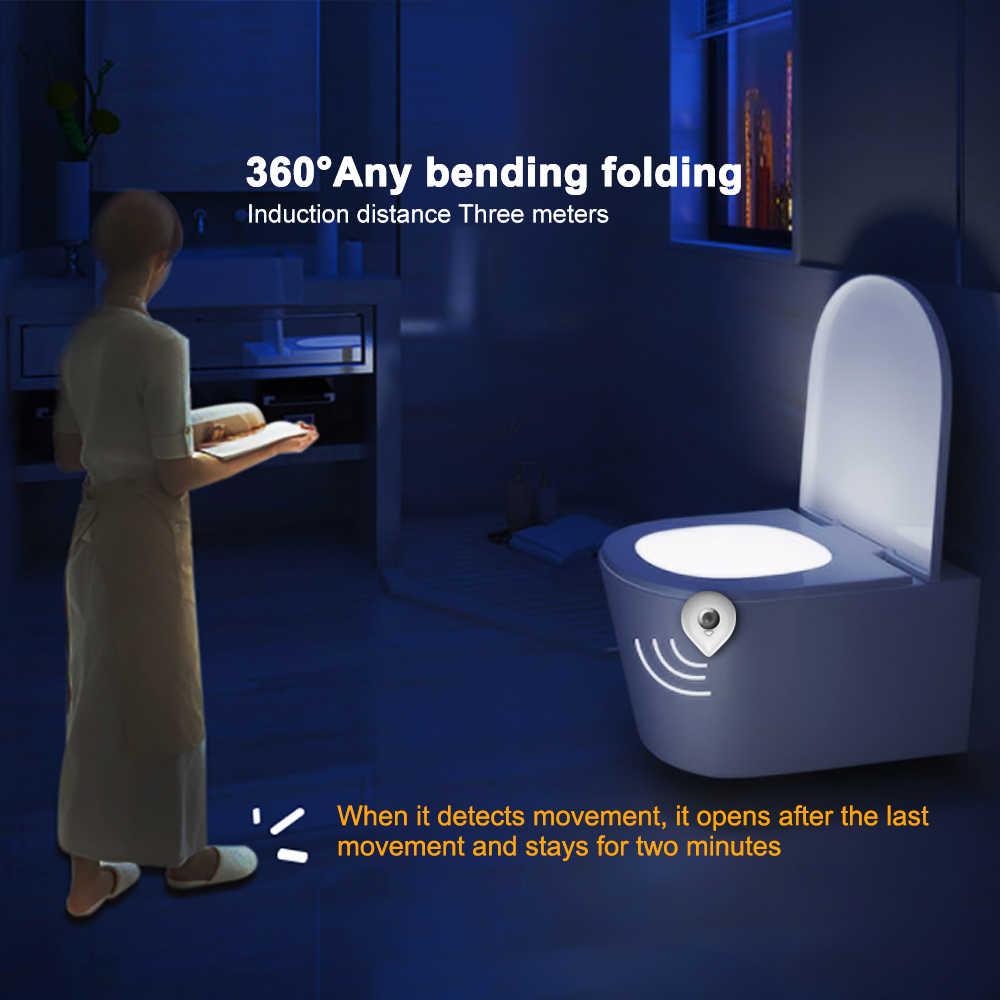 Washingroomห้องน้ำMotionชามห้องน้ำที่เปิดใช้งานON/OFFไฟที่นั่งSENSORโคมไฟแสงที่นั่งLIGHT