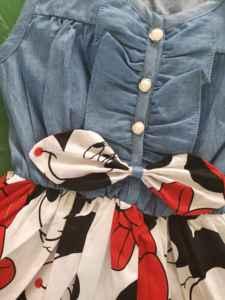 Новинка 2020, детское платье без рукавов для девочек с изображением Минни и крещения, праздвечерние чное платье принцессы, Ковбойское платье на