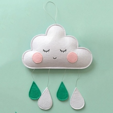 Ornaments-String Kids Nordic Room-Decor Clouds-Shaped Baby Bed-Bell Wall-Hanging-Ornaments