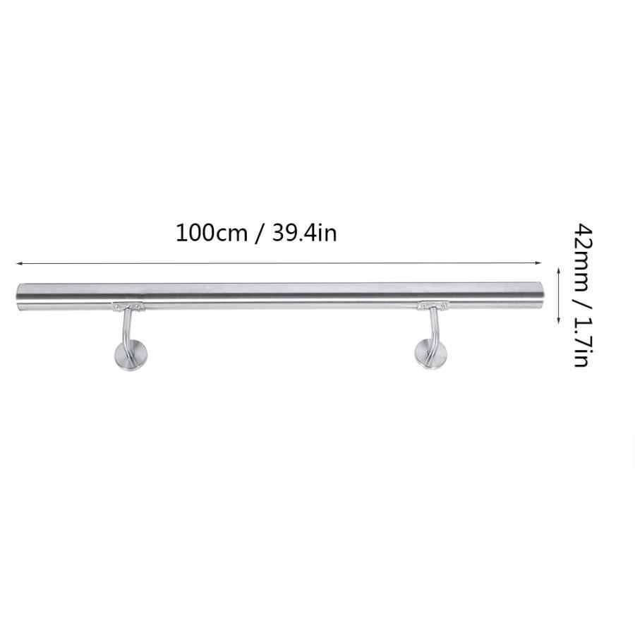 UK Stainless Steel 100//80cm Handrail Grab Rail Balcony Safety Staircase Railing
