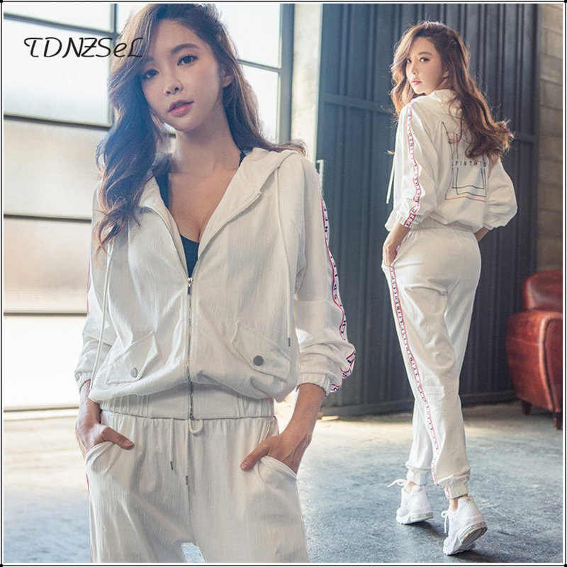 Spring Autumn Womens Sport Traksuits Casual Hoodies Pants 2 Two Piece Sets Outfits Fitness Jogger Sets Running Sweatpants Suits