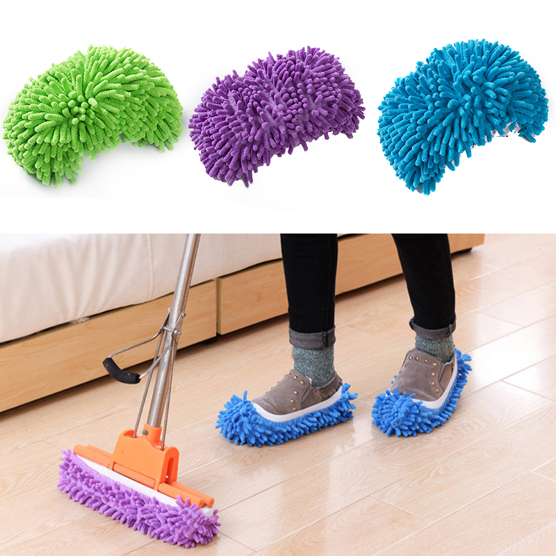 Single Mop Mopping Slippers Shoes Lazy Shoe Mop Caps Set House Bathroom Floor Mopping Lazy Shoes Cover Botas 1pcs