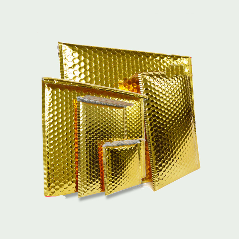 wholesale Gold Color CD/CVD Packaging Shipping Bubble Mailers paper Padded Envelopes Gift Bag Bubble Mailing Envelope Bag