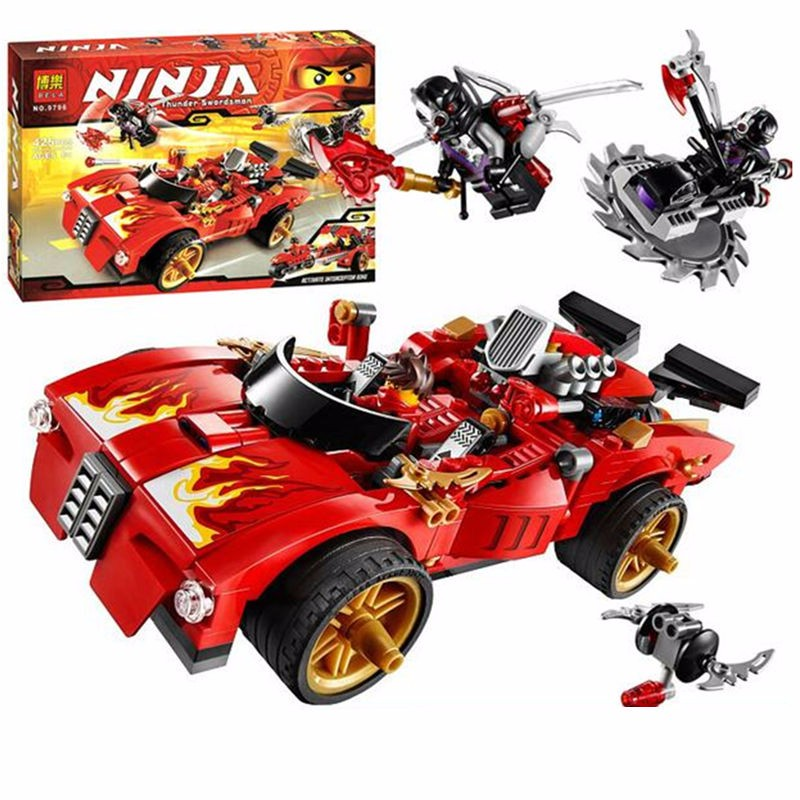 9796 Lepining Ninjagoed Duel Ninjutsu Racing Truck Bricks Toy Ninja Kids Educational Toys For Children Building Bricks