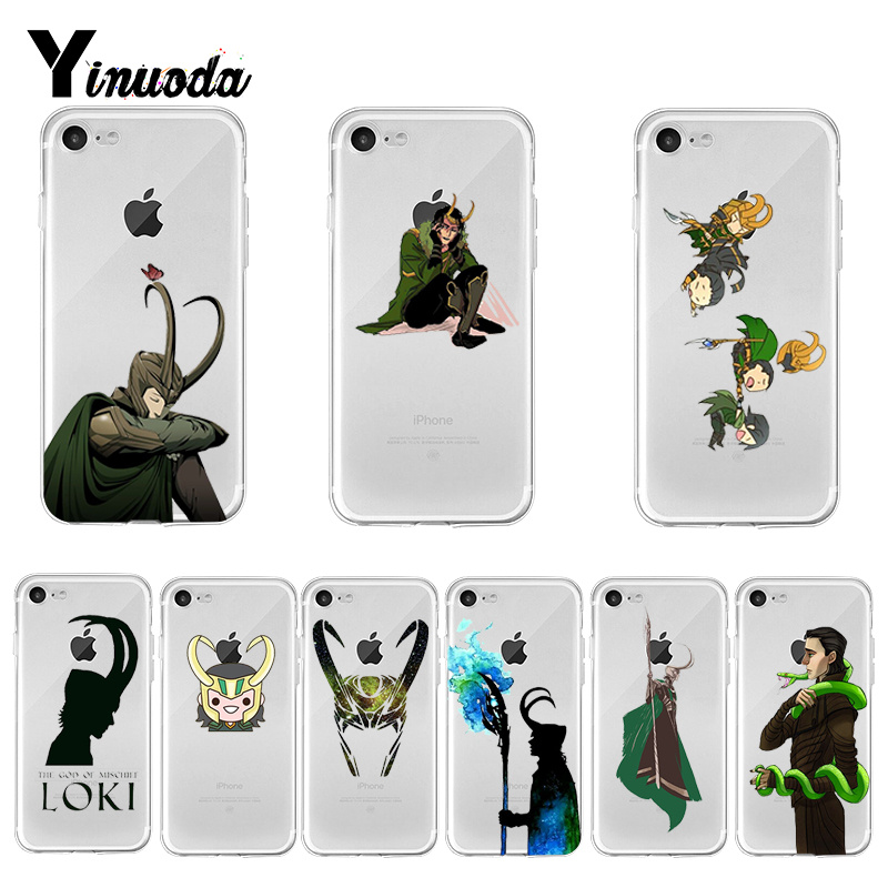 Yinuoda Marvel Hero Loki Colorful Phone Accessories cover for iPhone X XS MAX 6 6s 7 7plus 8 8Plus 5 5S SE XR 11 pro max
