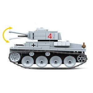 Image 4 - Новый 535 шт. военный WW2, светильник, строительные блоки, модель, техника, город, военный солдат, игрушки для оружия
