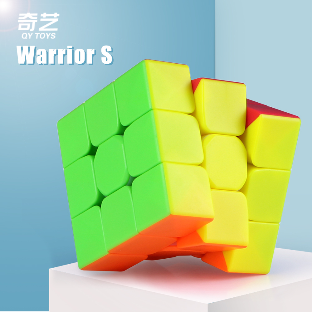 Qiyi Warrior S 3x3x3 Magic Puzzle Cube Stickerless Speed Cube Professional 3x3 Cube Toy For Childre Gift