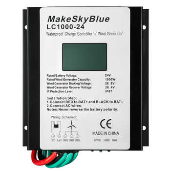 Makeskyblue Wind Charge Controller for 1000W 48V 1000W 24V 2000W 48V AC Wind Turbine Generator