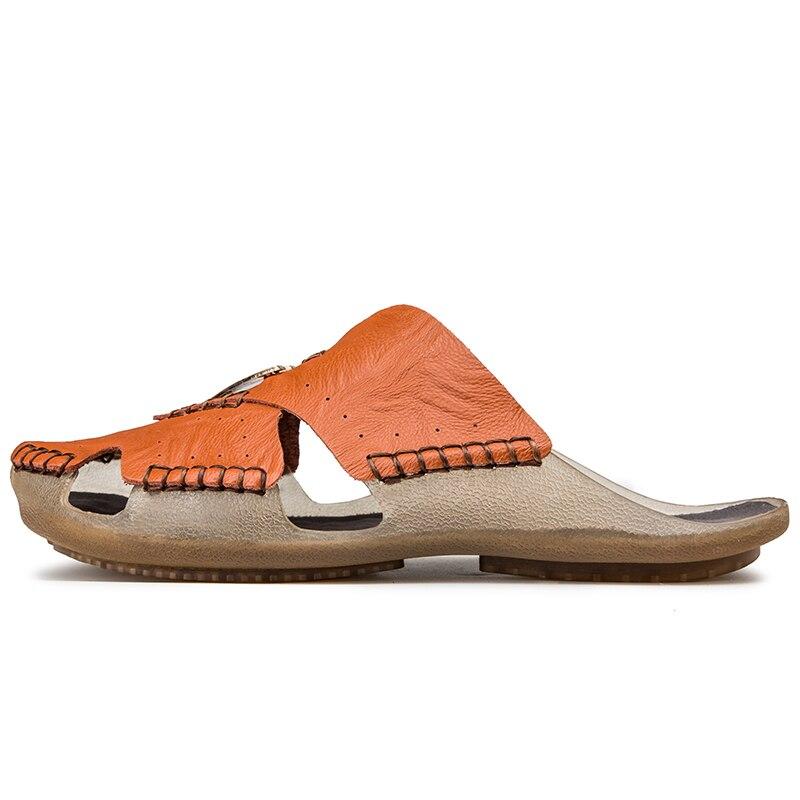 Summer Sandals Men 2020 Hot Sale Leather Men's Casual Shoes V-shaped Design Ltalian Classic Baotou Outdoor Beach Men's Shoes