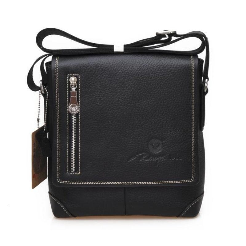 HOT High-end Black Men Retro Full-grain Genuine Cattle Hide Messeanger Bag Wear-resisting & Durable Business Briefcase