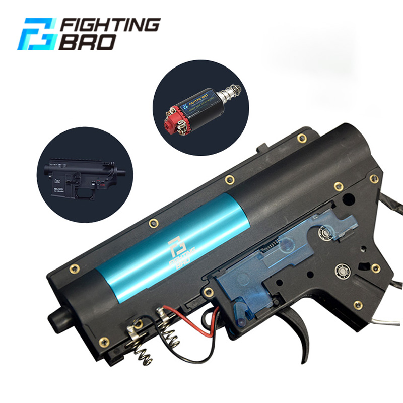 FightingBro 4.0 Split Gel Blaster Gearbox V2 Paintball Accessories Nylon Update BD556 Maopul TTM LDT416 Tactical Air Gun