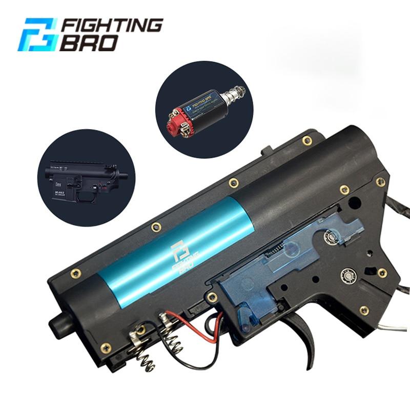 FightingBro 4.0 Split Gel Blaster Gearbox V2 Paintball Accessories Nylon Update BD556 Maopul TTM LDT416 Tactical Air Gun