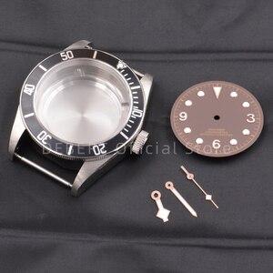 Image 5 - 41 ミリメートルメンズ腕時計ケースダイヤル手防水 316L S スチールフィット eta 2836/2824 Miyota8215 821A 運動メンズ mechanica