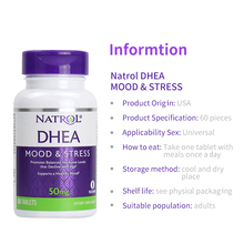 Natrol Dhea 50 Mg Stemming & Stress Bevordert Evenwichtige Hormoon Niveaus Dat 60 Tabletten