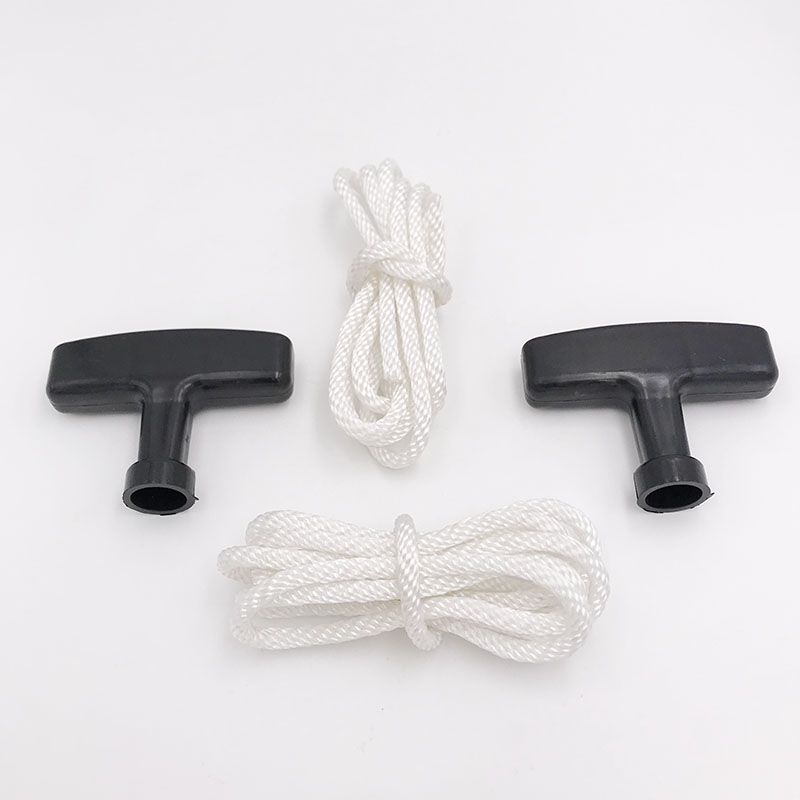 2 X Recoil Starter Pull Handle Grip & Rope Kit For Honda GX160 GX200 GX120 GX110 Engine Motor Trimmer Brush Cutter 28461-ZH8-013