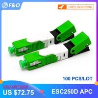 Großhandel 100 200 Teile/los ESC250D SC APC SM Single mode Fiber Optic Schnelle Stecker Schnell Neue Modell FTTH Kostenloser Versand|Glasfaser-Ausrüstungen|Handys & Telekommunikation -